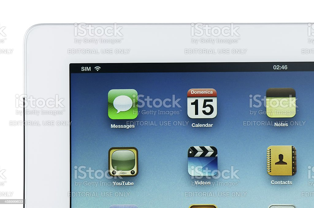 iPad 3 Wi-Fi + 4G stock photo