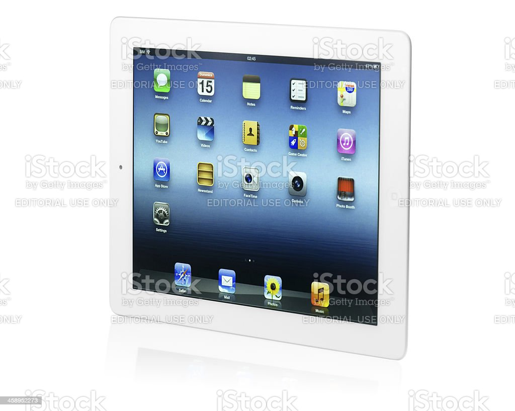 iPad 3 with clipping path royalty-free stock photo