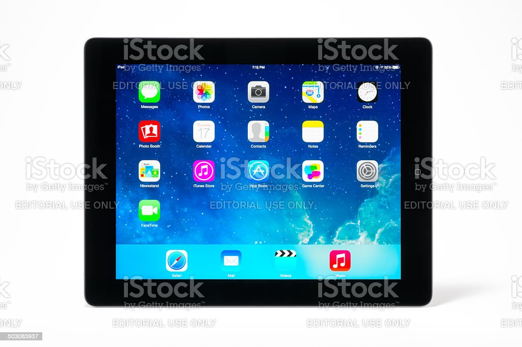 iPad 4 with iOS 7 stock photo