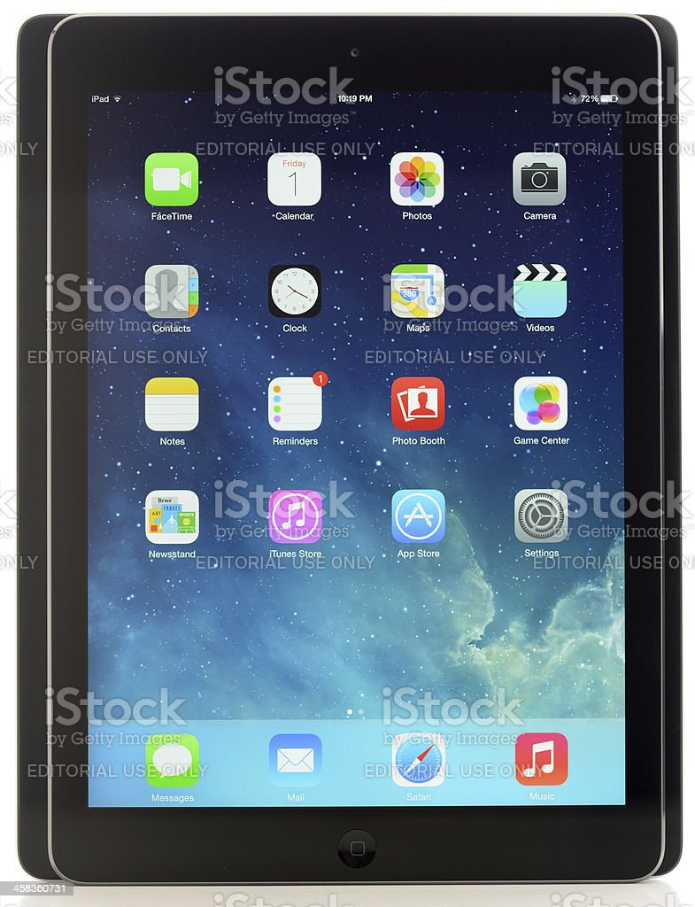 iPad Air in Front of Previous Generation royalty-free stock photo