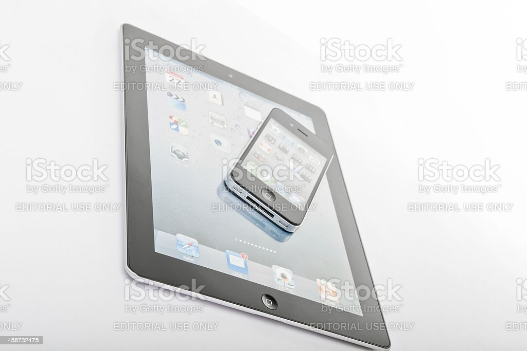 Ipad and iphone stock photo