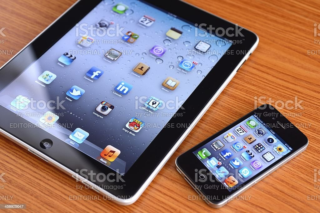 iPad and iPhone royalty-free stock photo