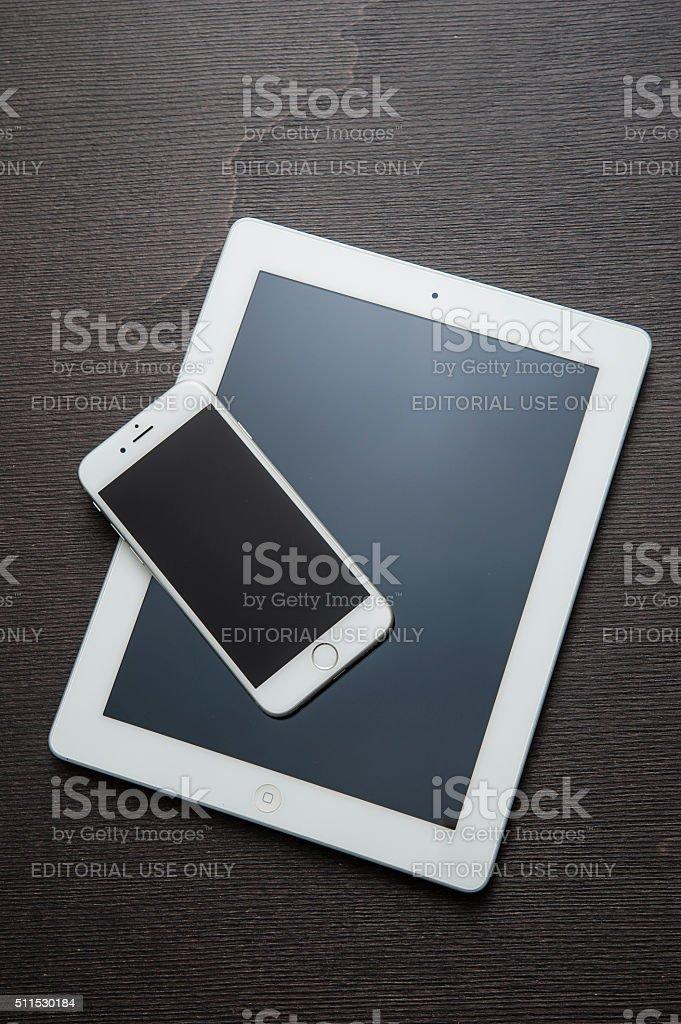 iPad and iPhone stock photo