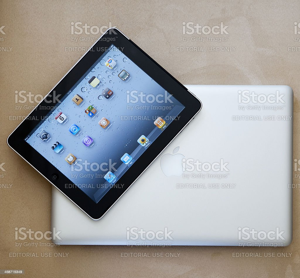 iPad and Macbook pro royalty-free stock photo