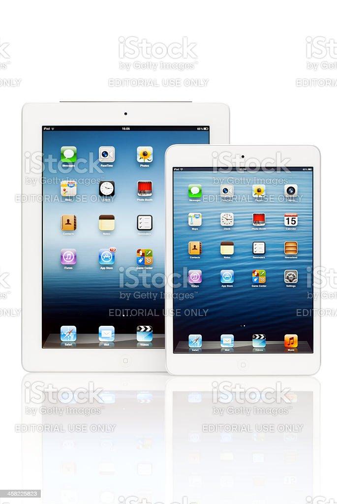iPad digital tablets on white background stock photo