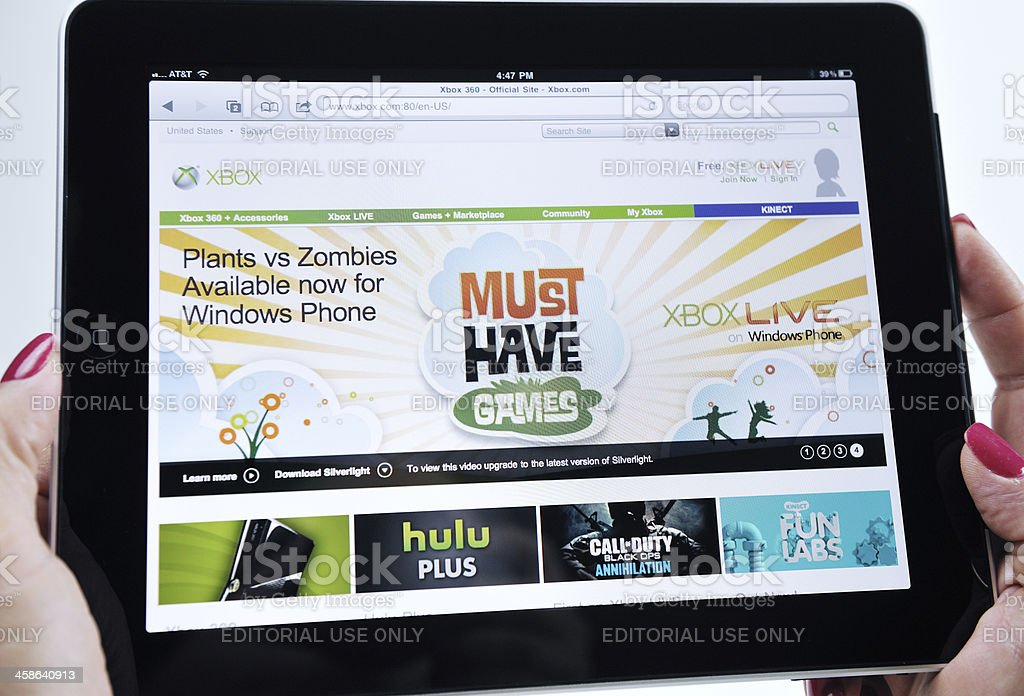 iPad Displaying Various Xbox Video Games royalty-free stock photo