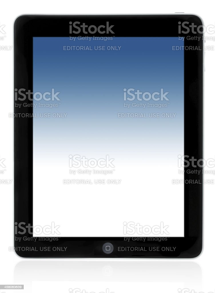iPad from Apple royalty-free stock photo