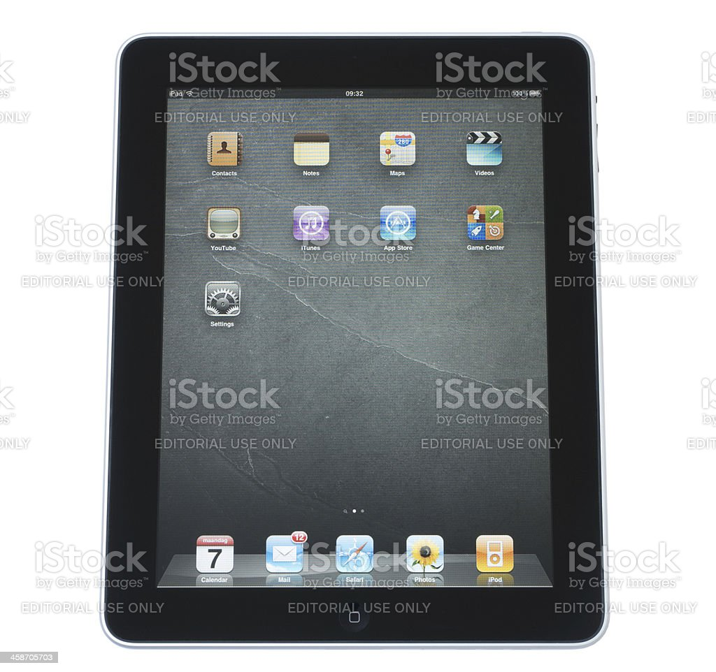 iPad from Apple royalty-free stock photo