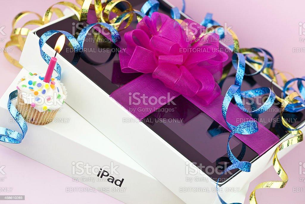 iPad Gift for Birthday royalty-free stock photo