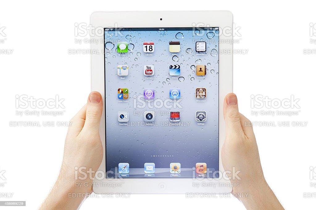 iPad iOS6 royalty-free stock photo