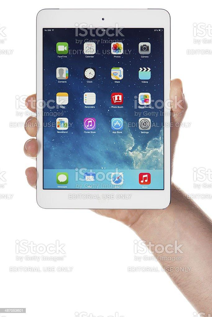 iPad Mini and iOS 7.1 stock photo