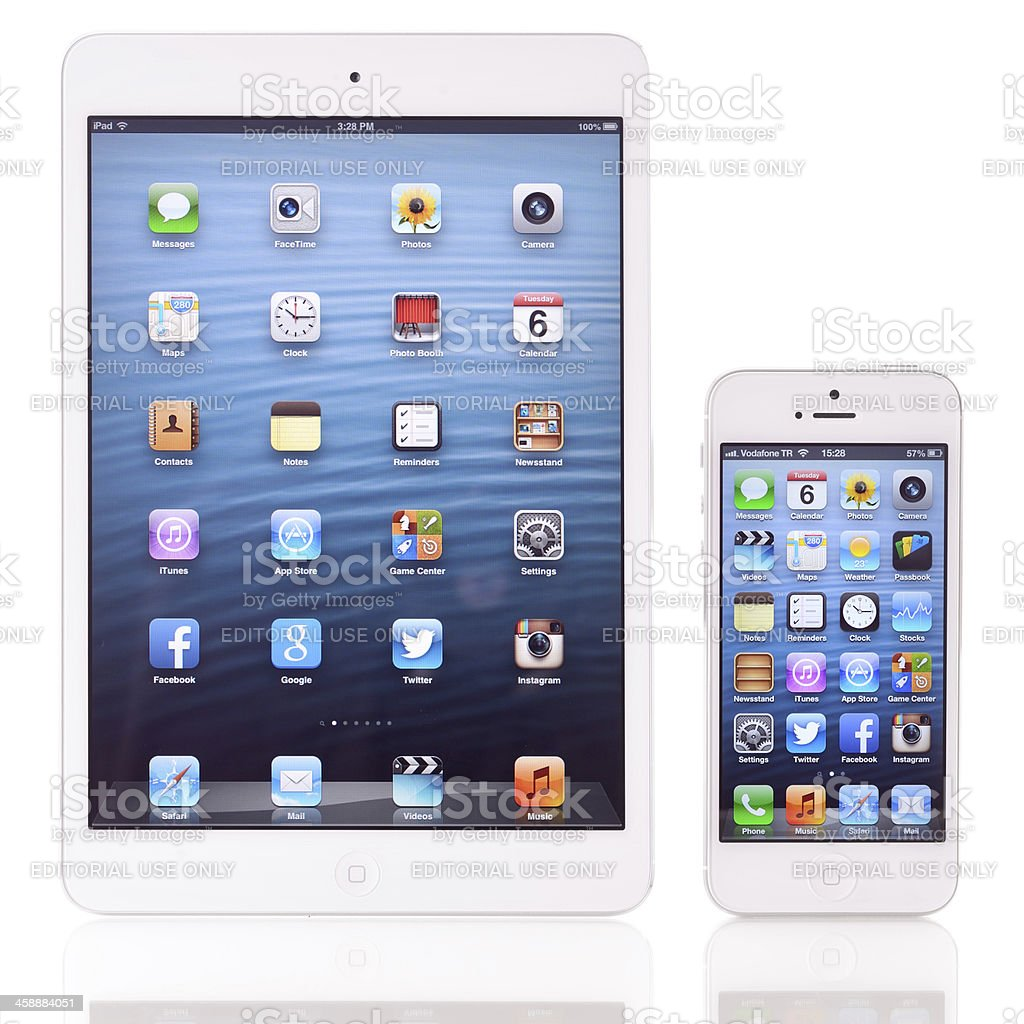 iPad Mini and iPhone 5 royalty-free stock photo