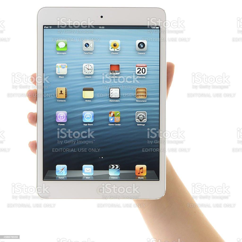 iPad Mini White stock photo