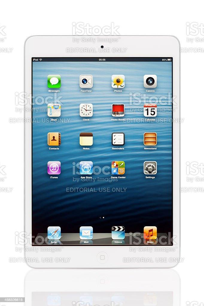 iPad mini with clipping path stock photo