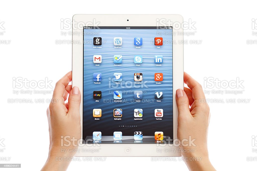 iPad stock photo