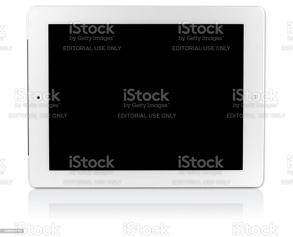 iPad with clipping paths royalty-free stock photo