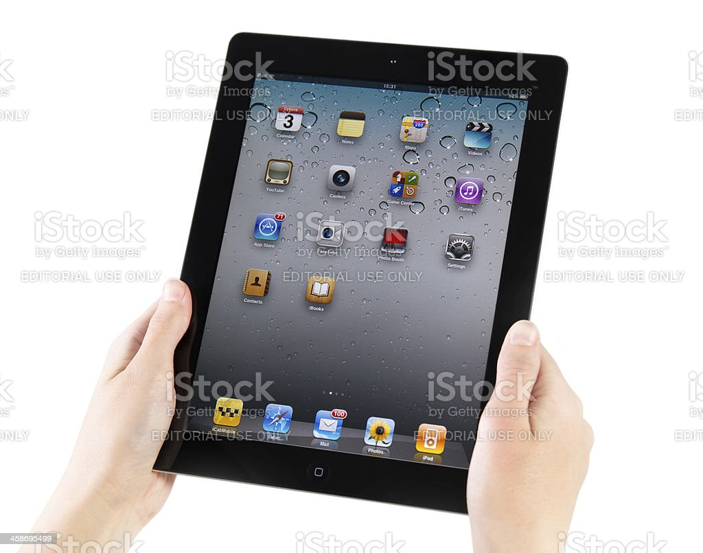 iPad2 Homepage Screen stock photo