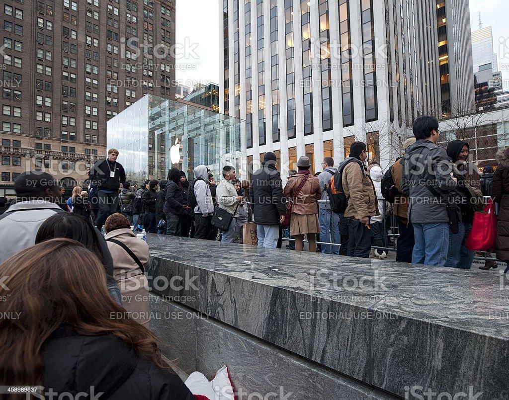 iPad2 Launch in New York royalty-free stock photo