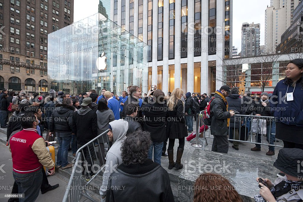 iPad2 Launch in New York royalty-free stock photo