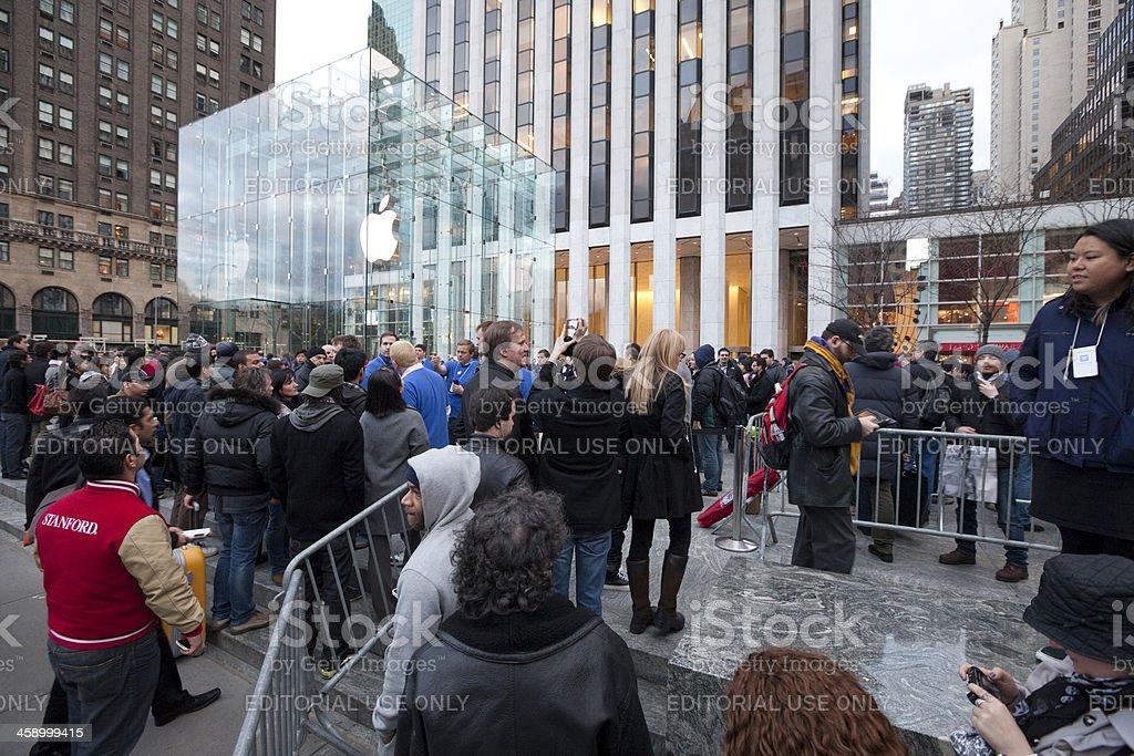 iPad2 Launch in New York stock photo