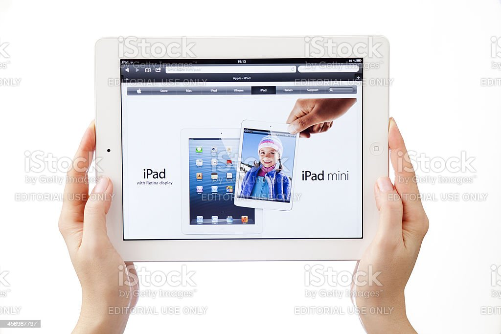 iPad3 and iPad mini royalty-free stock photo