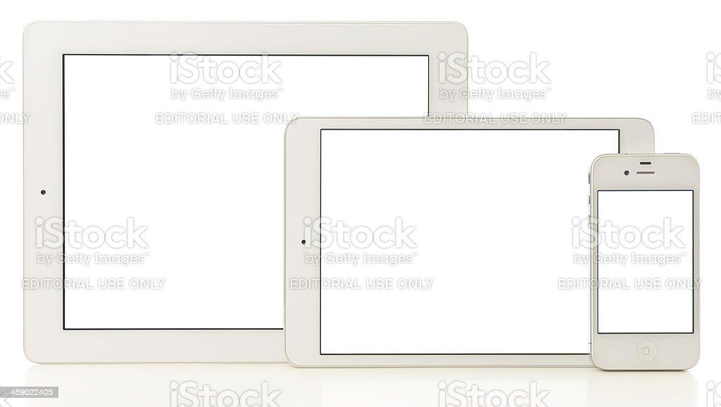 iPad3 & iPad Mini & iPhone 4 royalty-free stock photo