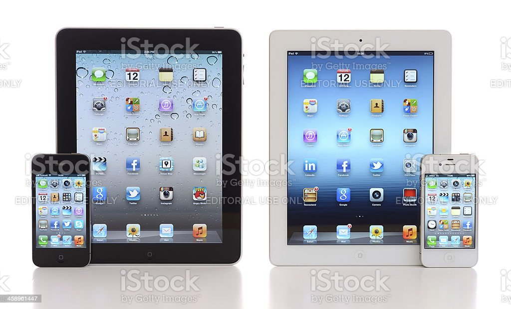 iPads & iPhones royalty-free stock photo