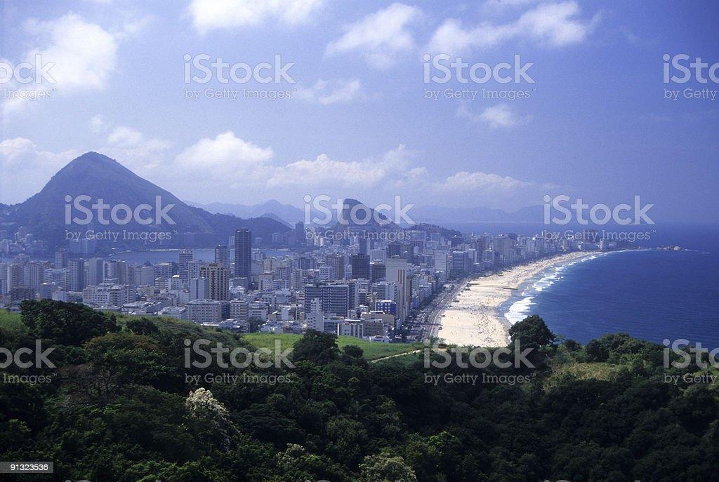 Ipanema and Leblon beaches royalty-free stock photo