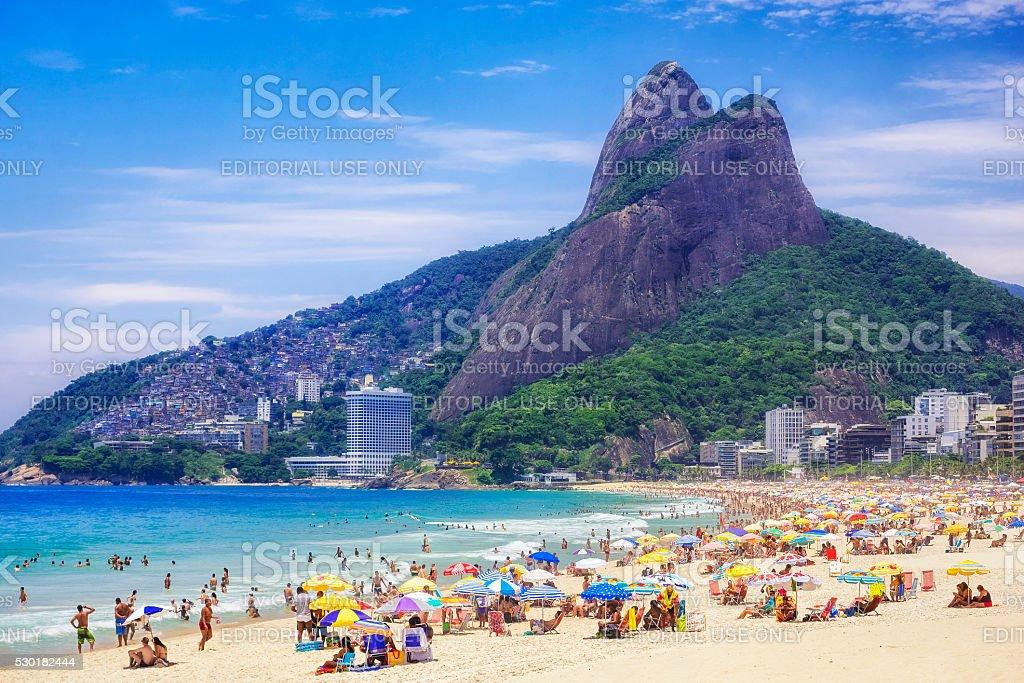 Ipanema Beach in Rio de Janeiro, Brazil stock photo