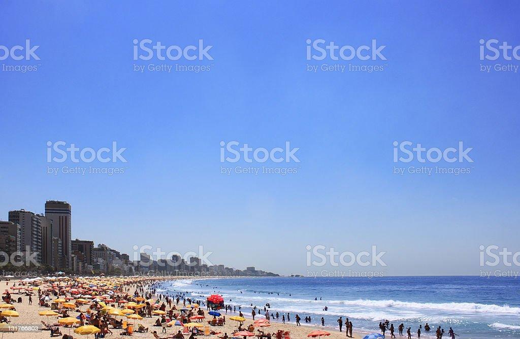 Ipanema beach in Rio de Janeiro royalty-free stock photo