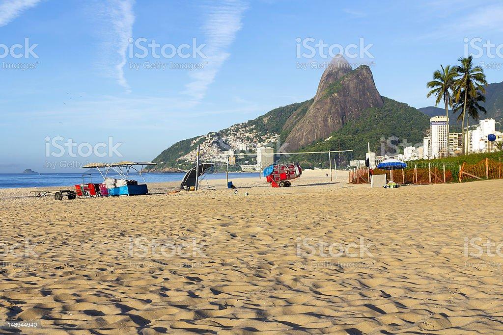 Ipanema Beach in the morning royalty-free stock photo