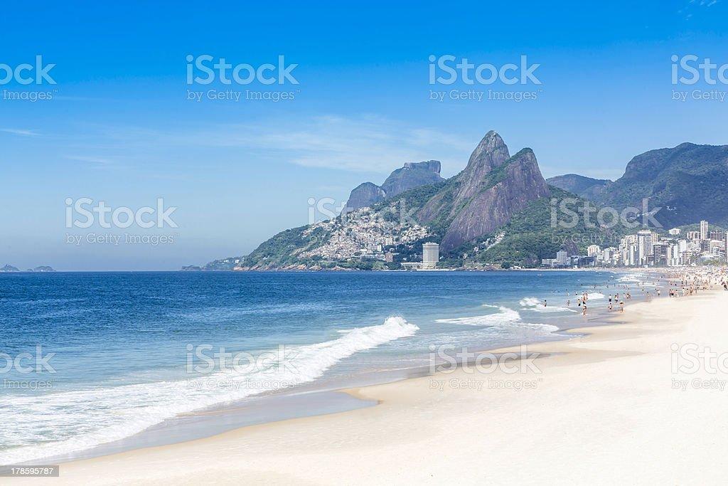 Ipanema Beach in the morning,Rio de Janeiro stock photo