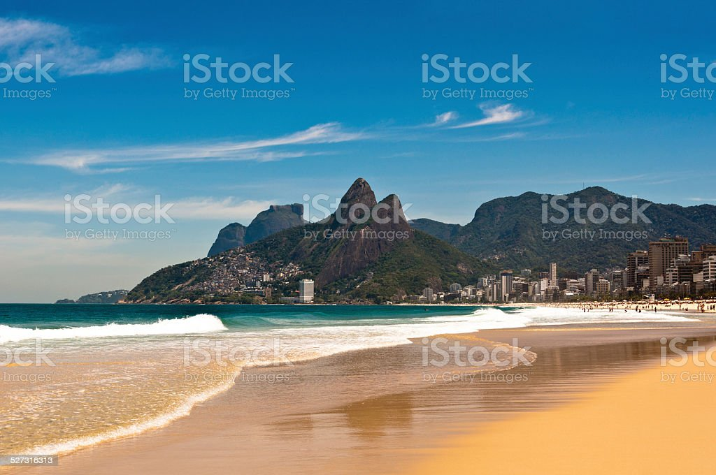 Ipanema Beach  on Sunny Summer Day stock photo