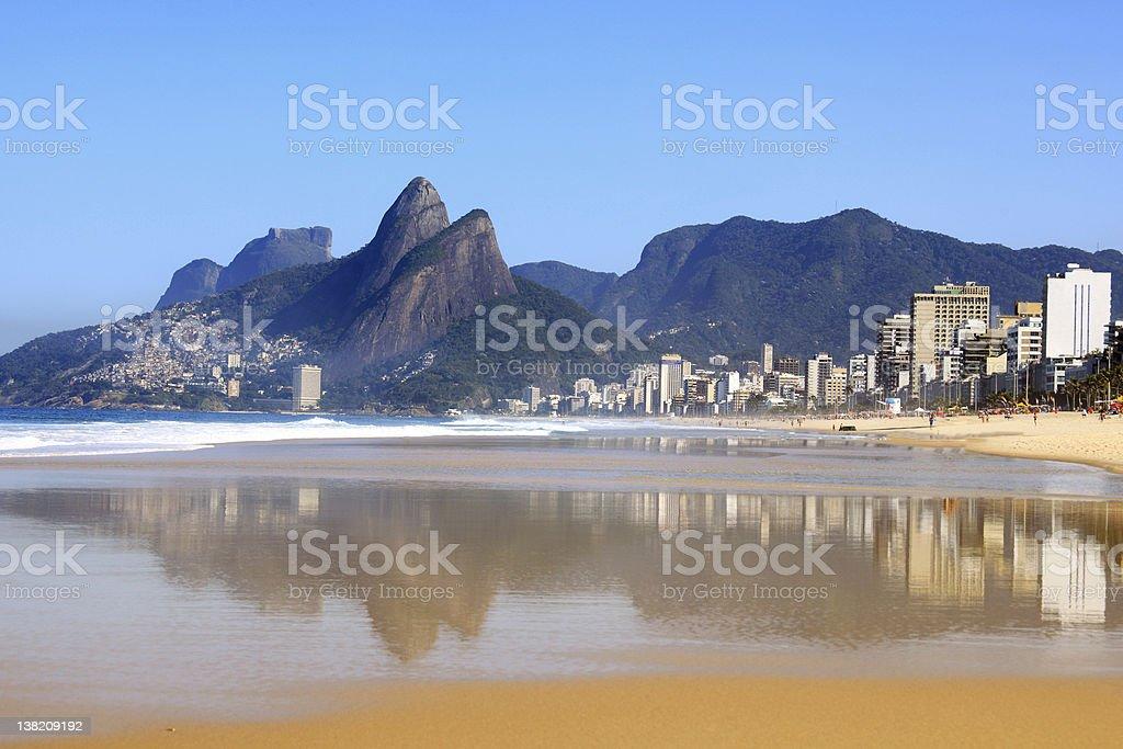 Ipanema Beach Rio de Janeiro stock photo