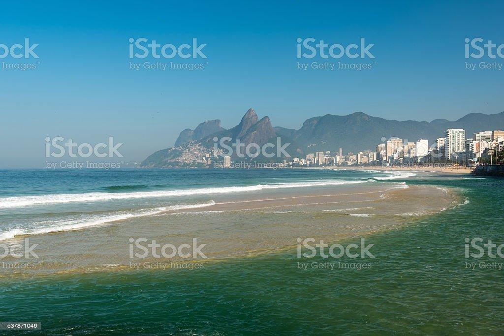 Ipanema Beach Under Water stock photo