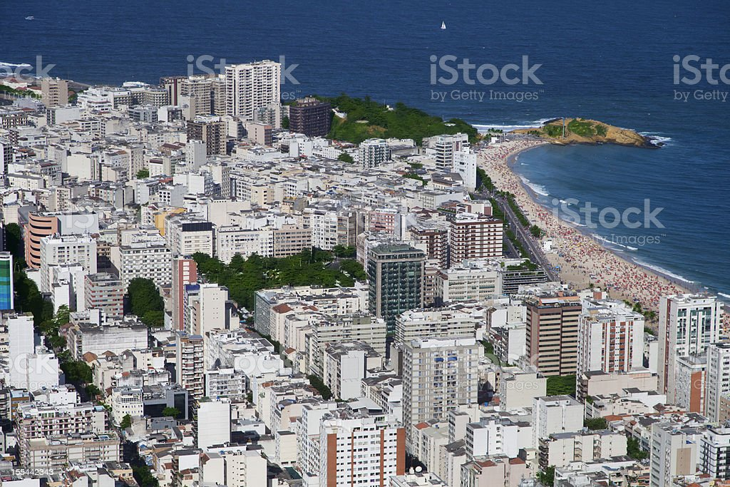 Ipanema district in Rio de Janeiro stock photo