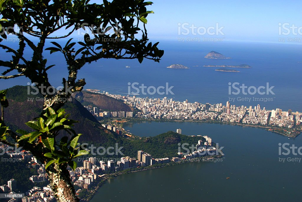 Ipanema from above royalty-free stock photo
