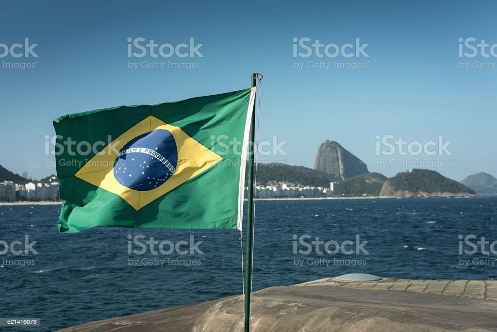 Ipanema from Copacabana stock photo