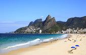 ipanema leblon beach in rio de janeiro brazil