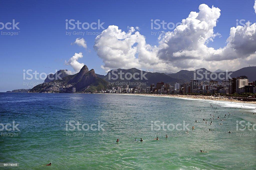 ipanema Leblon beach in rio de janeiro stock photo