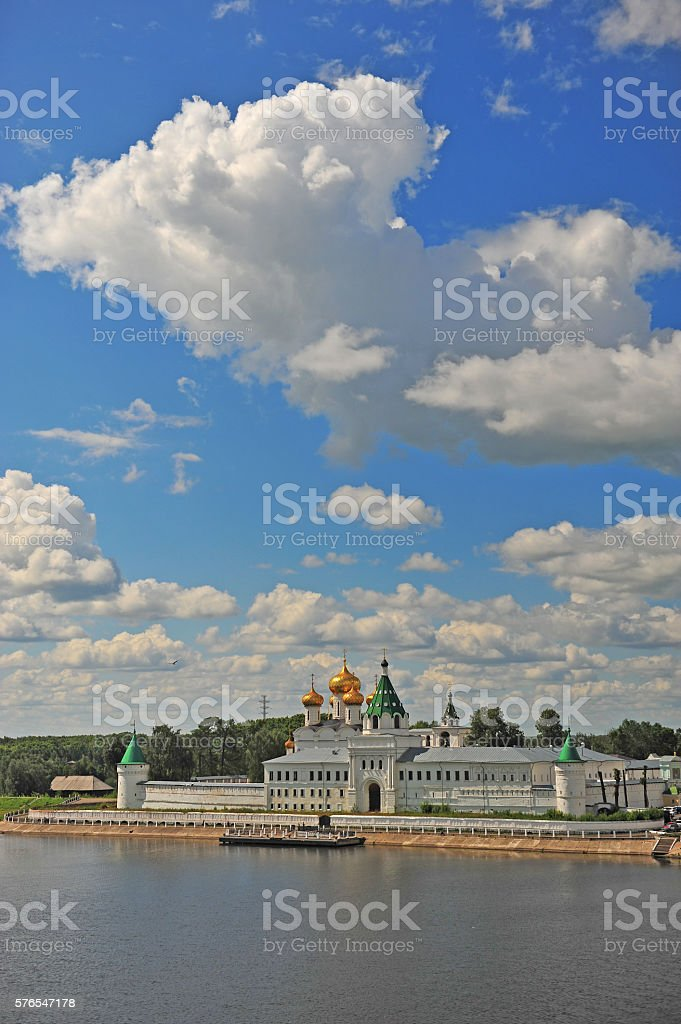 Ipatiev monastery in Kostroma, Golden ring, Russia stock photo