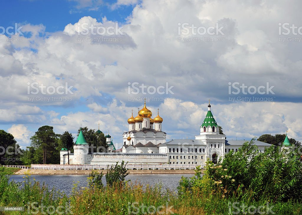 Ipatiev orthodox monastery stock photo