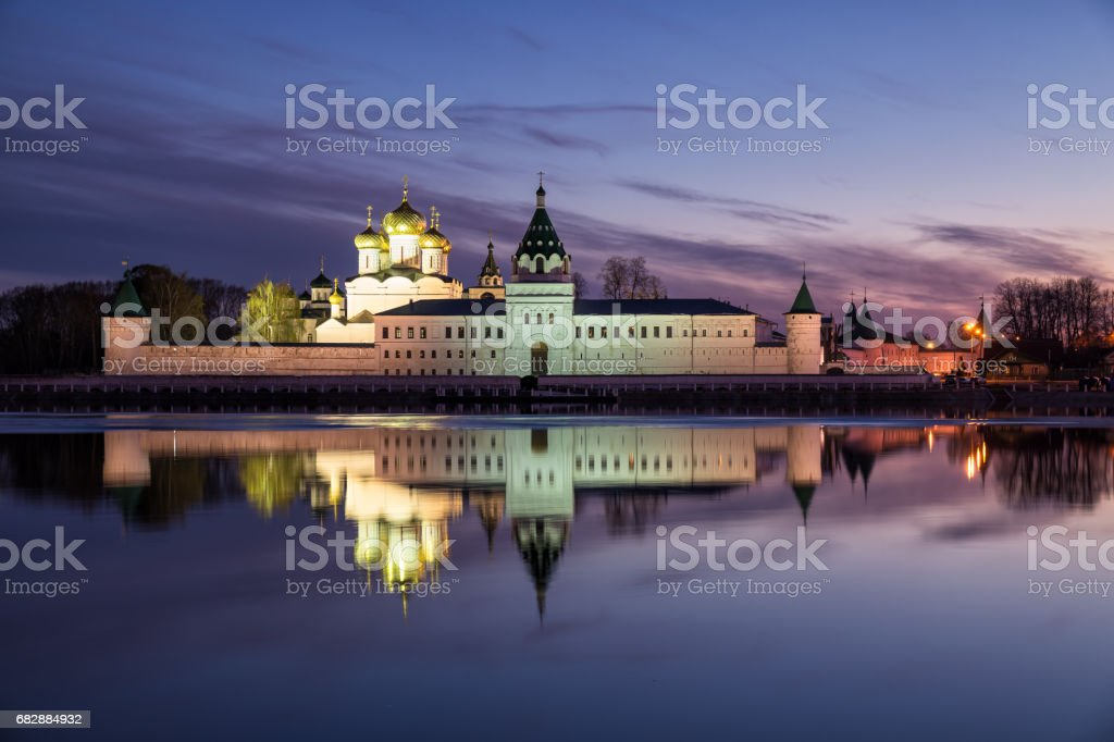Ipatievsky monastery at twilight stock photo
