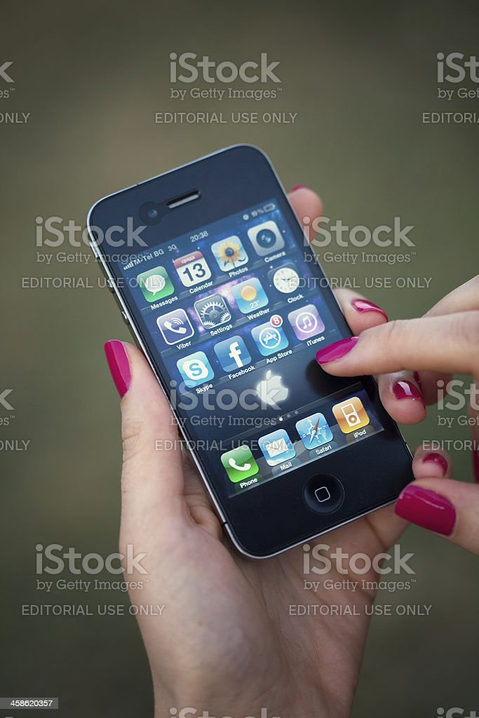 Iphone 4 stock photo