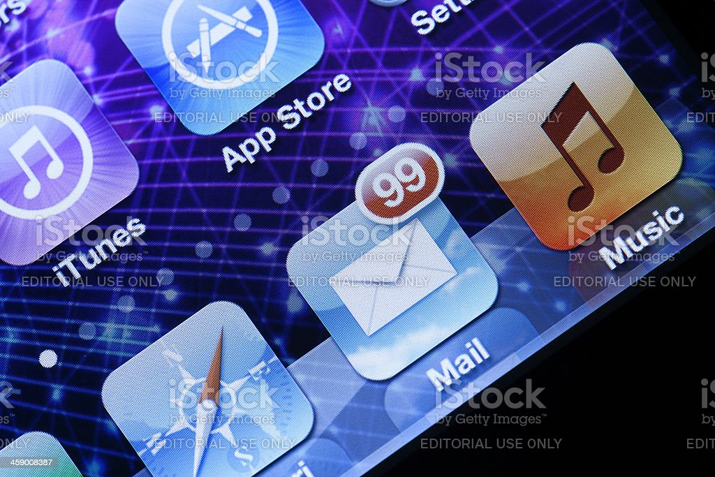 iPhone 4 Screen royalty-free stock photo