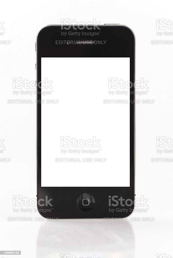 Iphone 4 with white screen royalty-free stock photo