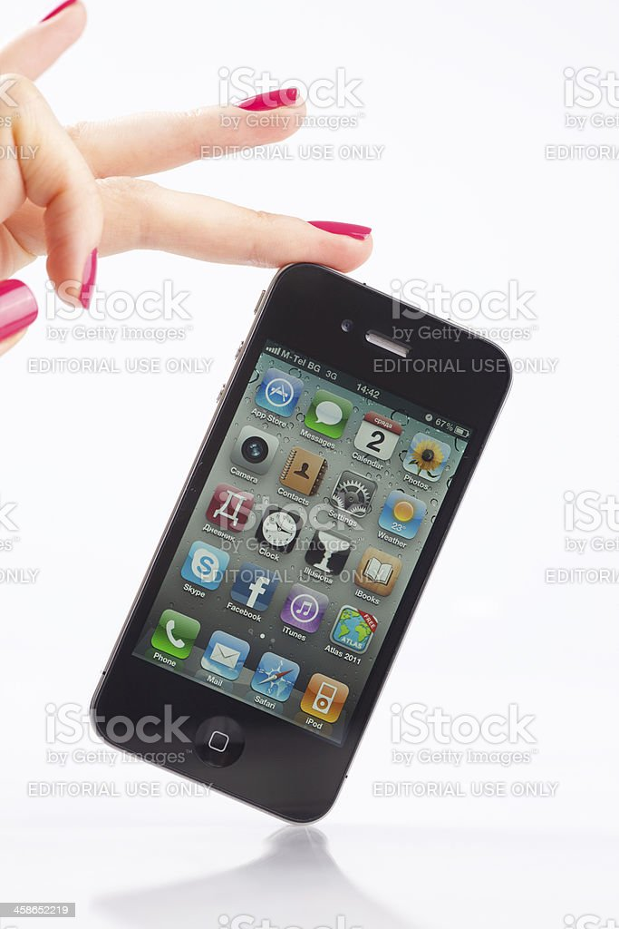 iPhone 4G royalty-free stock photo