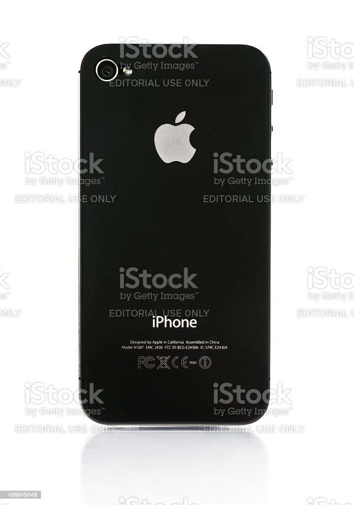 Iphone 4S Back Side royalty-free stock photo