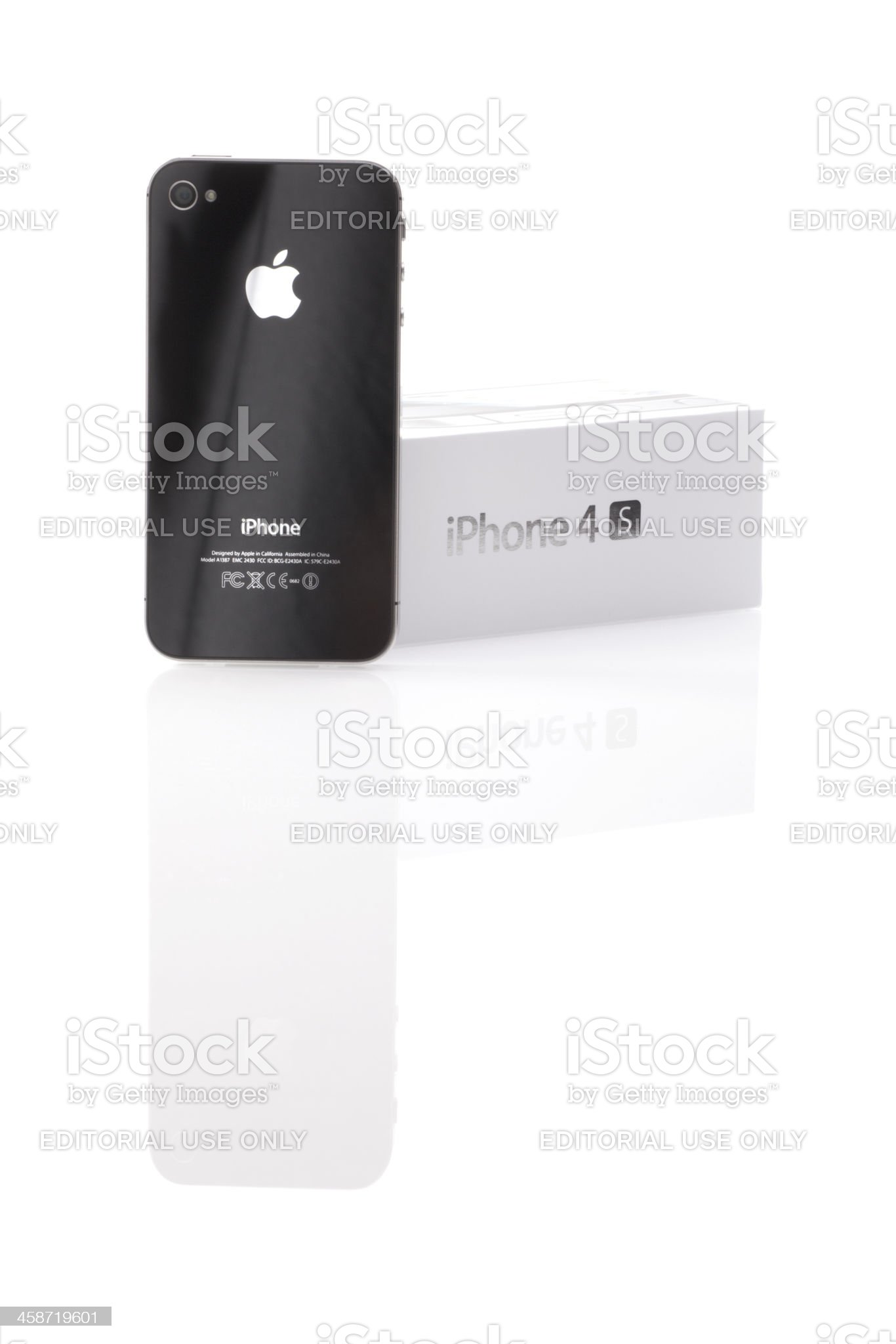 iPhone 4S back view royalty-free stock photo