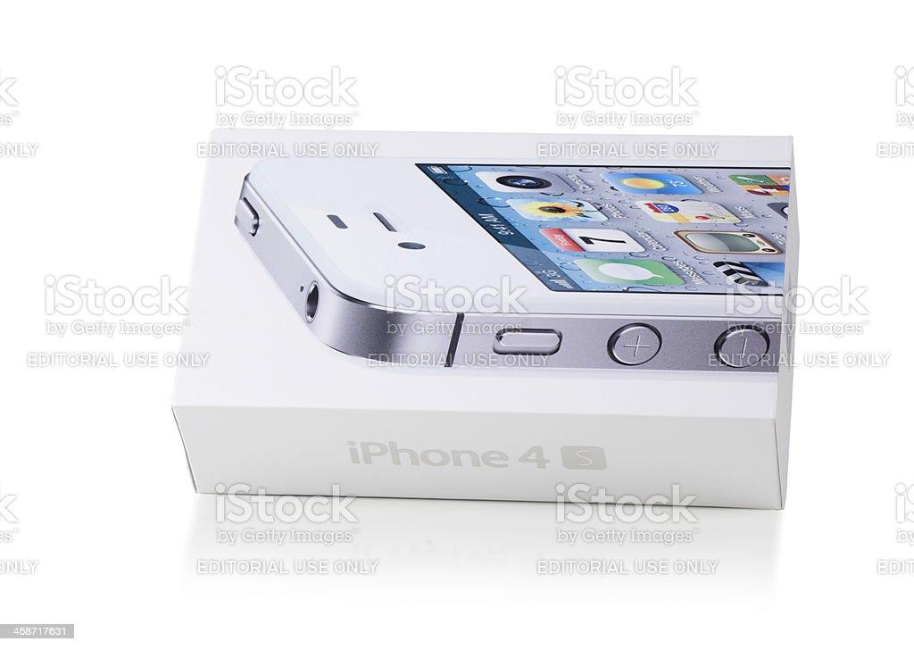 iPhone 4S - box on white royalty-free stock photo